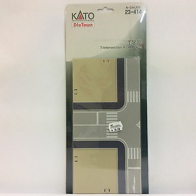 KATO Dio Town, T-Intersection Road Plates, N-Gauge, 23-414