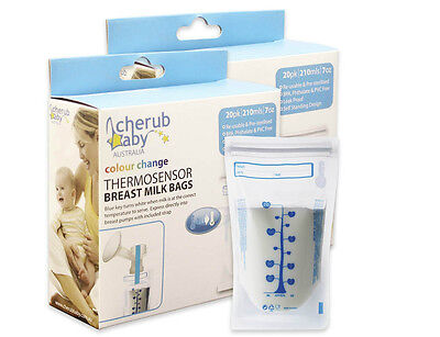 Cherub Baby Reusable 45pk Breast Milk Bags with Thermosensor