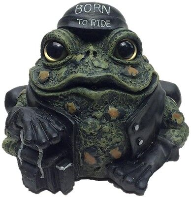 Toad Hollow 8-1/2 in. Born to Ride Toad Statue