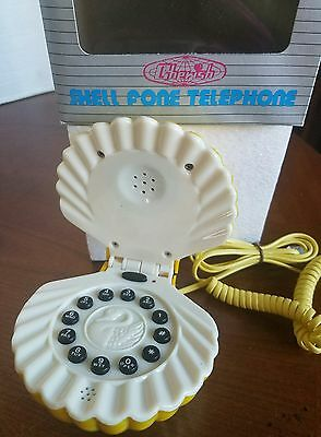 Shell Fone Novelty Telephone, Vintage New Old Stock, Land Line Phone