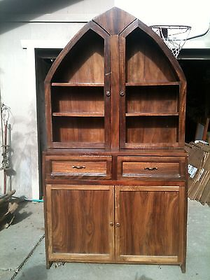 Vintage Unique China Hutch or Bookcase Solid Wood Custom Made