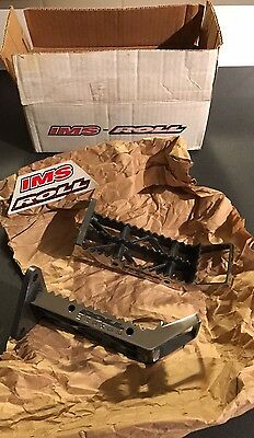 YFZ 450 NOS IMS Roll Design Polished Foot Pegs Kick Ups Obsolete NIB 04-09 12-15