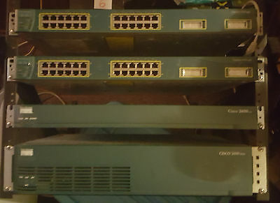 cisco rack 2 x routers 2 switches $100 and rack