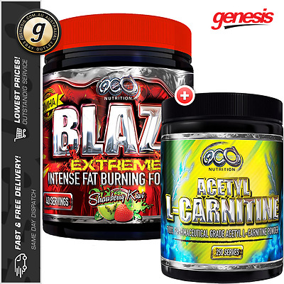 OCD Nutrition Blaze Extreme + Acetyl L-Carnitine - Alcar Thermogenic Fat Burner!