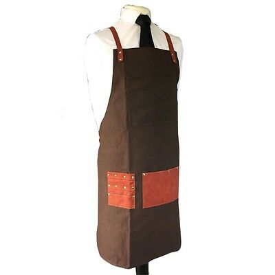Professional Barber Hair Cutting Styling Pouch Apron Chocolate Brown