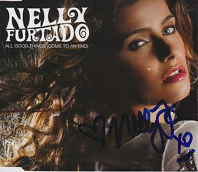 Nelly Furtado signed All Good Things cd single