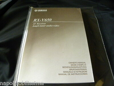 Yamaha RX-V650  Owner's Manual  Operating Instruction   New