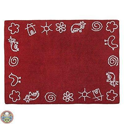 Lorena Canals Rosso C-88803 Granja Red Washable Rug Nuovo