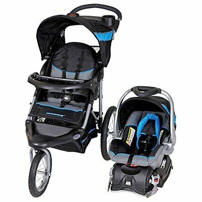Baby Trend Expedition Travel System With Stroller & Car Seat Millennium Blue Pad