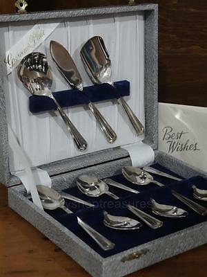Elegant Grosvenor Vintage Antique Cuttlery Set Silver Plated in Box