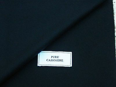 100% Pure Cashmere Fabric, Navy Shade, Made In England 2.1Metres