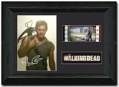 The Walking Dead 35 mm Signed Film Cell Display Daryl Dixon Framed Display s4