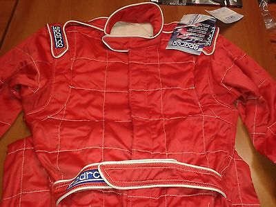 Sparco Racing Suit Fia 8856-2000 Rally Size 50 56 Overall  Race Suit Red Fia