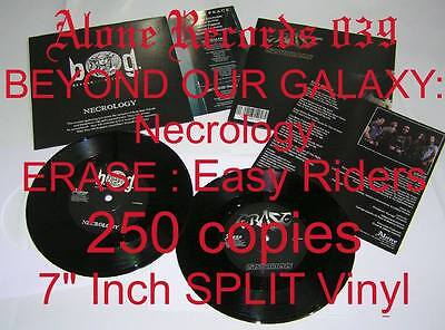 "BEYOND OUR GALAXY / ERASE Necrology / Easy Riders SPLIT 7"" Inch VINYL BRAND NEW"