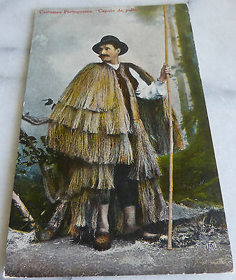 "Postcard - Portuguese Costumes ""Capote de Palha"" Approx early 1900s"