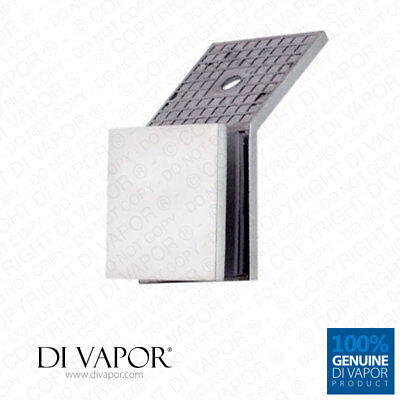 135 Degree Wall to Glass Bracket Clamp for Shower Panel or Balustrade   6mm to D