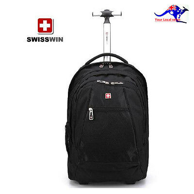 SwissWin SW092806 Trolley Backpack Business Multi-funtion Large Capacity Black