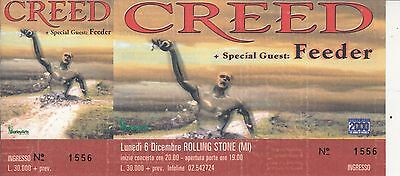 CREED original unsold ticket LIVE 1999 Italy (BA.275)