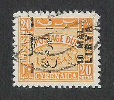 Libya 1951 10m on 10m Tripolitania Issue Postage Due #J28 VF Used