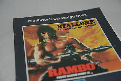Cinema campaign press kit, book: RAMBO First Blood Part II Sylvester Stallone