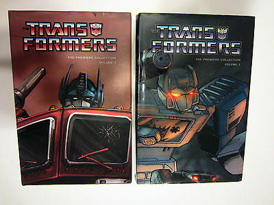 Transformers Premiere Collection Vol 1 & 2 Idw Comics Harcovers Signed Furman