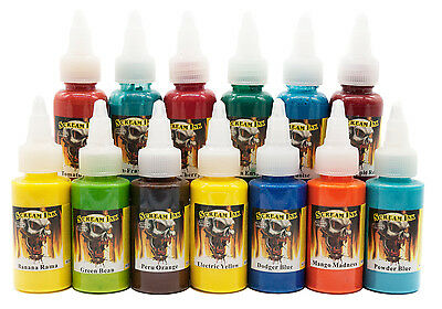 Scream Tattoo Ink - 30ml (1oz) - Choose from over 30 Stunning Bright Colours