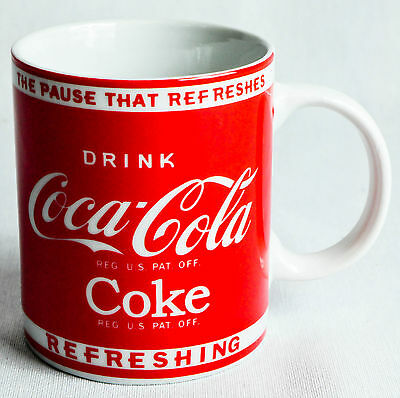 """Coca Cola, Original USA, Kaffeebecher """"The pause that refreshes"""""""