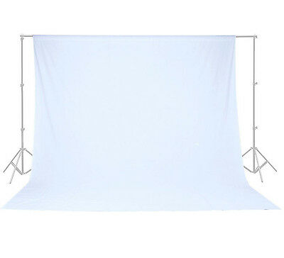100% Cotton 10 x 10 Ft White Muslin Backdrop Photo Studio Photography Background