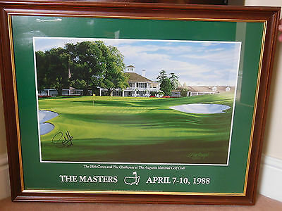 Signed Masters Clubhouse  Print - Sandy Lyle 1988