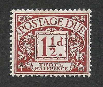 Great Britain 1922 1.5p Red Brown Key Value Postage Due #J3 SG D3 F-VF Mint LH