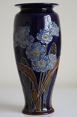 Royal Doulton Lambeth Vase - Forget-Me-Nots - Florence C.Roberts  - c.1905