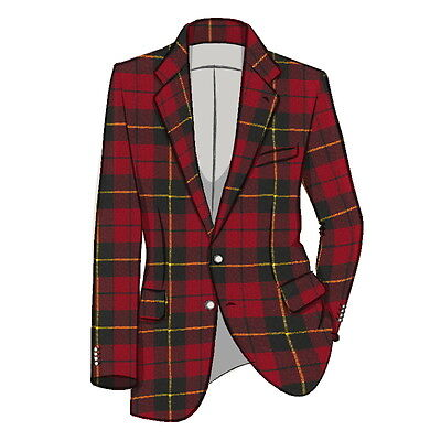 "''14 OZ'' Men's Scottish TARTAN WOOL JACKET With Waistcoat/Vest - Sizes 38""-54"""
