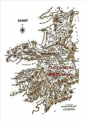 Map of County Kerry Ireland, dated 1897.