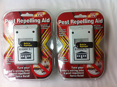 3 Pest Repellent for Rodents Roaches Ants Spiders Seen on TV Riddex
