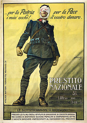 Art print POSTER / Canvas Italy-1919 Attenti!