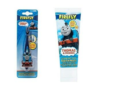 Boys Firefly Thomas & Friends Junior Toothbrush with Wall Holder with Toothpaste
