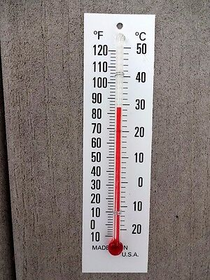 One 4 Inch Glass Replacement Thermometer  Tube With  White Backing Scale