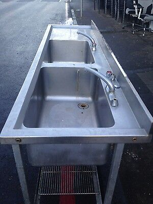 Bargain £275!  Commercial stainless steel double sink unit. Need new taps.