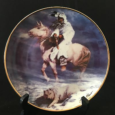 Franklin Mint West Heritage Native American Collector Plate Spirit Winter Wind