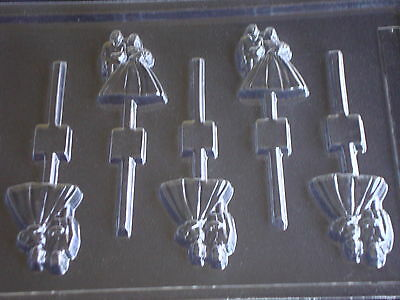 Wedding Bride & Groom Chocolate Lollipop Lolly Mould Mold 5 On 1
