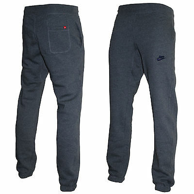 Nike Fleece Jogger Pants, Cuffed Stitched Logo Track Running Fitness Bottoms