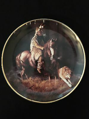 Franklin Mint West Heritage Native American Collector Plate Spirit Timber Mist