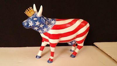 Cow Parade 2001 AMERICAN ROYAL COW FIGURINE #9189