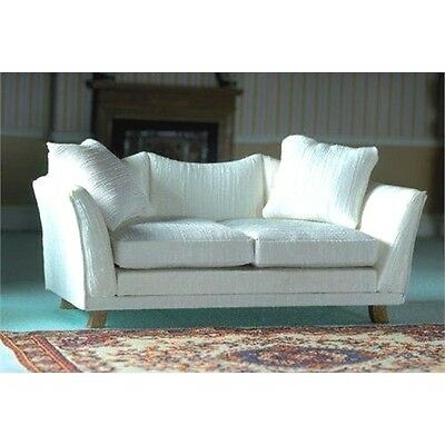 Dolls House Furniture: Classic Pale Cream Sofa : 12th scale