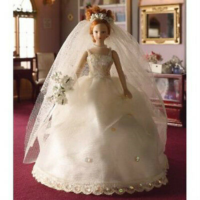 Dolls House Porcelain Bride Doll 'Naomi'  in 12th scale