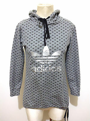 ADIDAS Felpa Maglia Donna Cotton Hooded Sport Woman Sweater Sz.S - 40