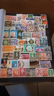 55 timbres Philippines (lot C)