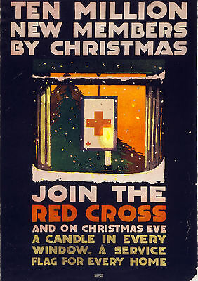 Art print POSTER / Canvas 1917-RED-Ten million new members by Christmas-1