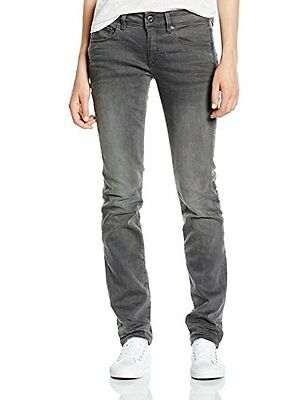 (TG. W25/L32) G-STAR Attacc Mid Straight Slander Superstretch Jeans da Donna, Co