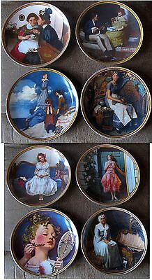 Norman Rockwell Rediscovered Women Series Collection (8) Knowles Plates, COA